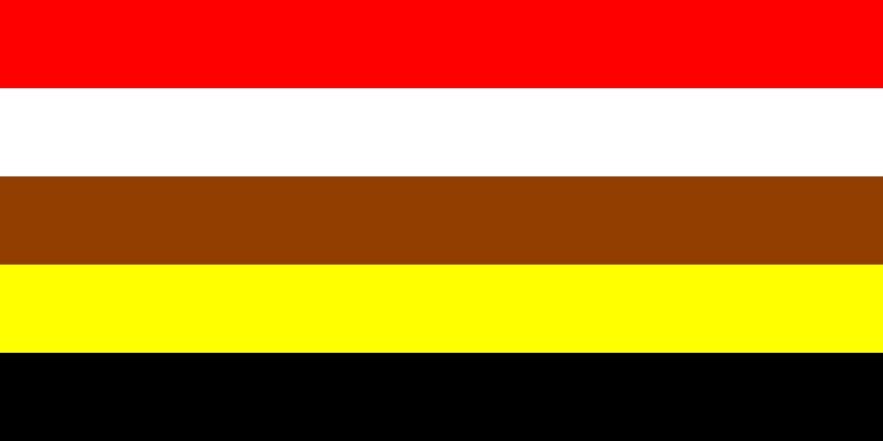"""Nachbildung der """"Flag of Brotherhood"""" oder auch """"Flag of the Human Race"""""""