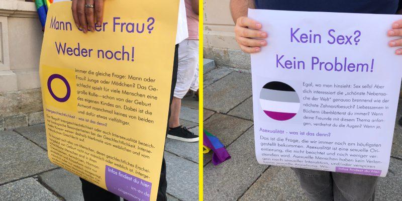 Wir Grüne waren vor Ort und haben auch aufgeklärt. Hier die von Ines Kummer und Hannes Merz gehaltenen Plakate, die über verschiedene Zeichen und deren Identifikationen dahinter aufklären.