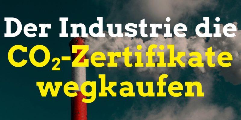 Der Compensators* e.V. kauft CO2-Zertifikate im Europäischen Emissionshandel, damit die Industrie weniger CO2-Tonnen abgeben kann. So wird ein Umdenken in der Klimakrise forciert. Durch Spenden ist ein Kauf der Emissionsrechte möglich. Compensators Verein Berlin